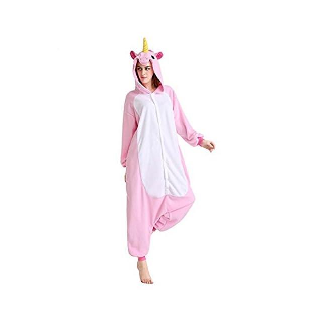 3891cb08b0e18 Kenmont Licorne Pyjama Deguisement Combinaison Animal Pijama Adulte Enfant  Unisexe Cosplay Costume Halloween