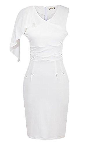 Mesdames Robes DÉté Courtes A Bretelles Classiques Chic Fashion Robes Casual Robes Rétro Blanc