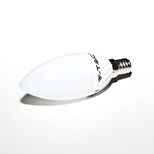 Bombilla LED en forma de vela E14en blanco cálido con 4W