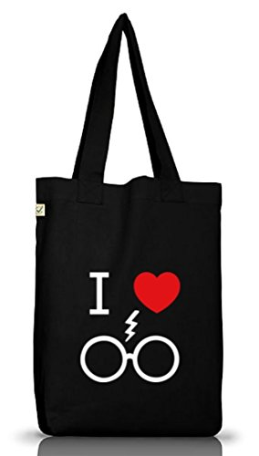 Shirtstreet24, I Love Harry, Jutebeutel Stoff Tasche Earth Positive (ONE SIZE) Black