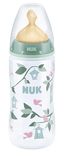 NUK 10216178 First Choice Plus Babyflasche aus PP, 300ml, Latex-Trinksauger, Größe 6-18 Monate, M, grün