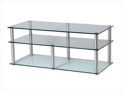 Frosted Glas-tv-ständer (GEM Slender 3shelf frost/KOL TV/Hifi-Ständer 800 x 400)