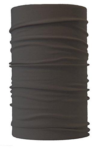 HeadLOOP Multifunktionstuch verschiedene Farben Schal Halstuch Kopftuch Microfaser (Grau) (Hals Schutz)