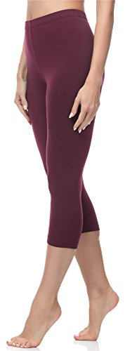 Merry Style Damen Leggings 3/4 MS10-144 (Weinrot, XS (Herstellergröße: 34)) (Legging Warme)