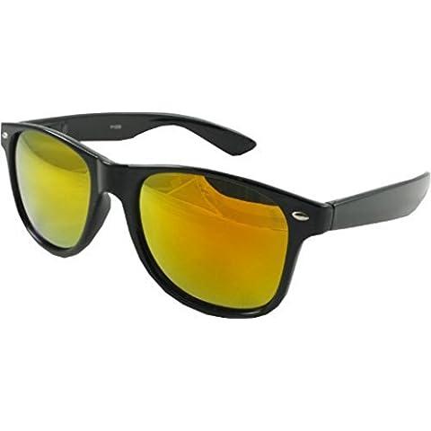 Ultra® negro enmarcada gafas con lentes coloreadas Multi adultos Wayfarer en estilo ligero gafas de sol Unisex hombre mujer Marcos además de un Marcos diseñador Retro bolsa de tela gratis