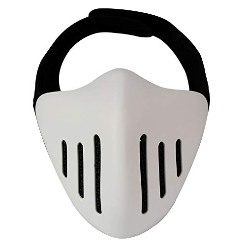 WLXW Airsoft Paintball Tactical Half Mask, Glory Knight-Schutzmaske, Cosplay Demon Monster, Masquerade-Ball/Halloween/Party/CS-Kriegsspiel/BBS,White (Kostüm Zubehör Halloween Skelett Füße,)