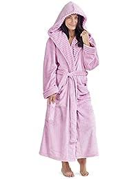 Accappatoio da Donna Penguin Owl Lusso Abiti da Donna Plush Robe novità  Animal Hood con Cappuccio in Pile Super Soft… ee2bfa0ed37