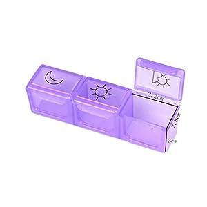 Zerama Pill hebdomadaire Organisateur Pill Voyage Portable Box Case séparée Supplément Pill Container Compartments