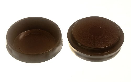 LOT OF 200MUEBLES MUEBLES SUELO PROTECTOR GLIDES BROWN PLASTICO 60MM