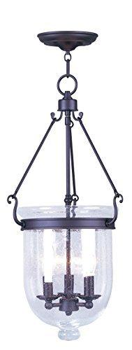 Livex Lighting 5084-07 Jefferson 3-Light Chain Hang, Bronze by Livex Lighting -