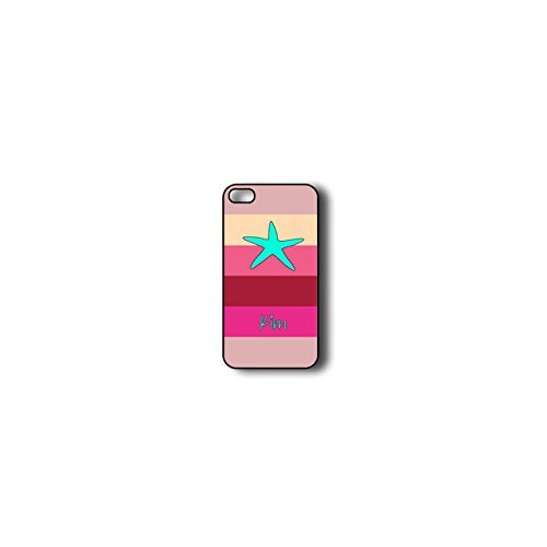 Krezy Case Monogram iPhone 6 Case, Colorful stripes with starfish Monogram iPhone 6 Case, Monogram iPhone 6 Case, iPhone 6 Case Cover
