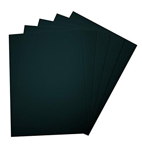 folia 23590 - Moosgummi, 5 Bögen, 2 mm, ca. 29 x 40 cm, schwarz - ideal für vielfältige Bastelarbeiten -