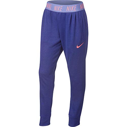 Nike-fitness-studio (Nike G Nk Dry Studio Hose für Mädchen XS dunkelviolett (Regency Purple/Htr/Lava Glow))