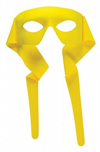 shoperama Accessoires für Superhero Herren Kostüm, Maske Gelb (Robin Maske Halloween)