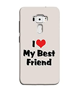 FUSON Designer Back Case Cover for Asus Zenfone 3 ZE520KL (5.2 Inches) (Lover True And Pure Friendship Day Hearts Forever)