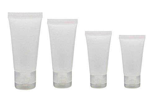 20PCS 10ml/15ml/30ml/50ml Clear Empty Refillable Plastic Soft Tubes Bottle Packing Sample Container For Shampoo Cleanser Shower Gel Body Lotion (15ml)