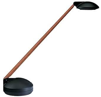 Unilux 100340184 Domino Lampe Halogène ABS/BPT/Aluminium/Bois Véritable Noir-Merisier