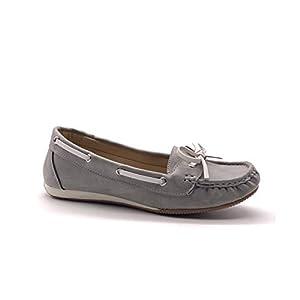 Angkorly - Damen Schuhe Bootsschuhe Mokassin - marinen Stil - Vintage/Retro - Lässig - Fliege - Bicolor - Linien 1 cm