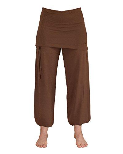 ZAMKARA Damen Yogapant JAIPUR, Bio-Baumwolle, Schokolade, S