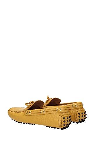 KUD006SOLEILDAINO2 Car Shoe Loafers Herren Leder Gelb Gelb