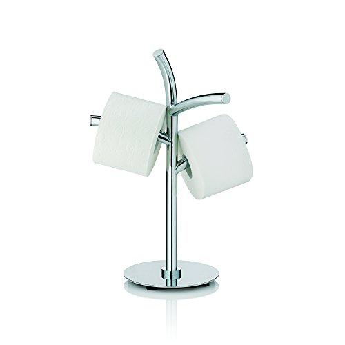 Wand Handtuchhalter Papier Halterung (Kela 22870, Toilettenpapierhalter, 3 Rollen, Metall, Saltus, 49cm, Verchromt)
