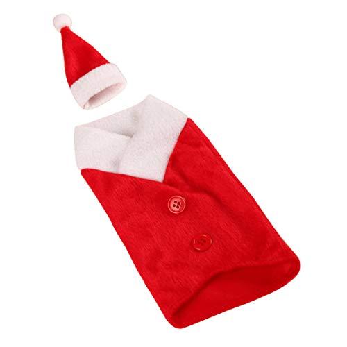 Shanjuew Geschicklich 2 Stile Weihnachtsmann Kleidung Hut