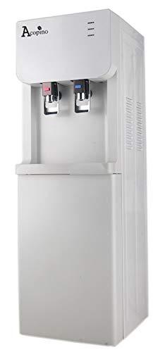 """Acopino Wasserspender \""""Cool&Hot\"""" • Heißwasserspender • Kaltwasserspender für Trinkwasser • 4 Liter Wassertank • Standgerät mit Aufbewahrungsschrank"""