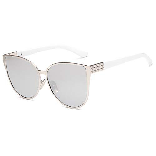 YOURSN Mode Übergröße Cat Eye Sonnenbrille Frauen Rahmen Spiegel Sonnenbrille Weibliche Uv400 Große Größe Sommer Stil Brillen-F