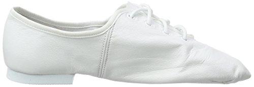 So Danca Damen Jze09 Geschlossene Ballerinas Weiß (White)