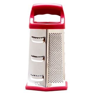 Cook's Corner 9 Stainless Steel Hex Grater - Red Trim by Cook's Corner -