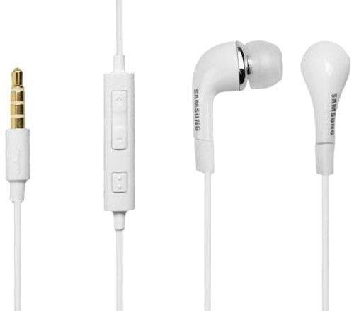 Original Samsung Weiß In Ear Stereo Freisprecheinrichtung Headset mit Lautstärkeregler an Bulk Verpackung Geeignet für Samsung Galaxy Fame S6810, Trend S7390, S4 Mini I9190, S3 Mini I8190 - Fame Handy Samsung