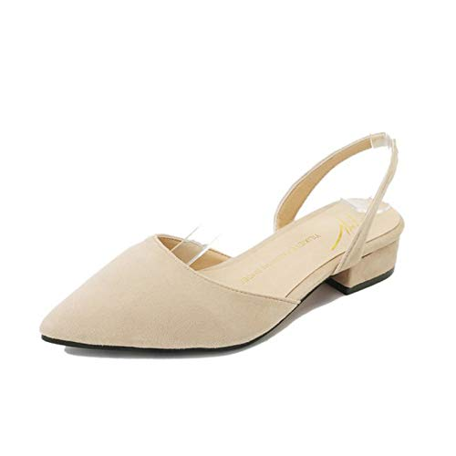 MIJI Niedriger Absatz-Knöchel-Schnalle der Frauen elastischer Komfort einfarbig Flats - Spitzen Bis Knöchel Stiefel