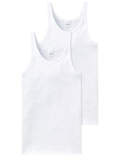 Schiesser Herren Unterhemd 2 er Pack 205144-100, Gr. 7 (XL), Weiß (100-weiss)