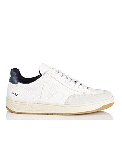 Veja , Baskets pour homme - - Multicolore - blanc (White White Nautico Natural Outsole), 46 EU
