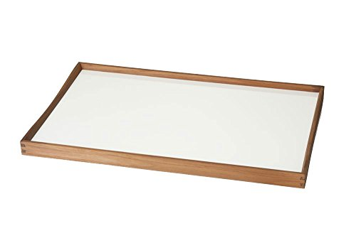 Architectmade - Tablett Turning Tray, 30 x 48 cm, schwarz/weiß -