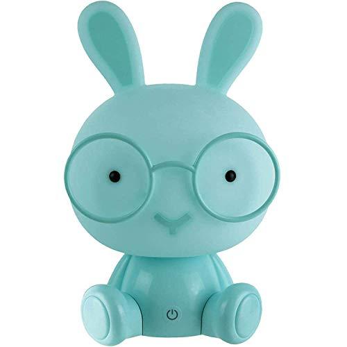 XX Small 37-2E-009 Lampe veilleuse LED Enfant Lapin XL Bleu 3 niveaux d'intensité lumineuse H32 x 18 x 19,5 cm, Bleu