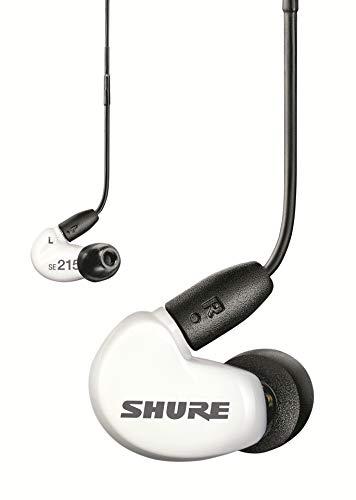 Shure SE215 In Ear Kopfhörer mit Sound Isolating Technologie, 3, 5-mm-Kabel, Fernbedienung und Mikrofon - Premium Ohrhörer mit warmem & detailreichem Klang - Special Edition Weiß thumbnail