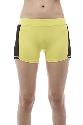 Hollywood Star Fashion Color Block Workout Sport Wear Shorts - Gelb - Klein