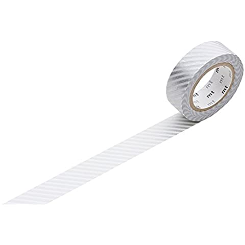 mt Stripe Washi Masking Tape Roll - Parent argento