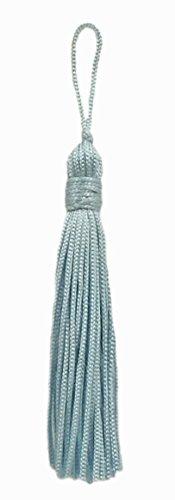 Lot de 10 Bleu clair chainette Tassel, 7,6 cm de long avec bordure 2,5 cm Loop, Basic Collection Style # Rt03 Couleur : bleu arctique – N14