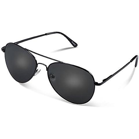 Duduma Lente Antirreflejante Completo Aviador UV400 Gafas de Sol con Diseño de Moda Retro Para Hombre y Para