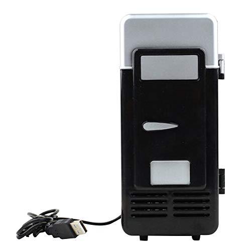 Faderr Mini congelador, Nevera pequeña, Mini refrigerador, Nevera portátil, Mini LED USB, Enfriador de Bebidas, Negro, Tamaño Libre