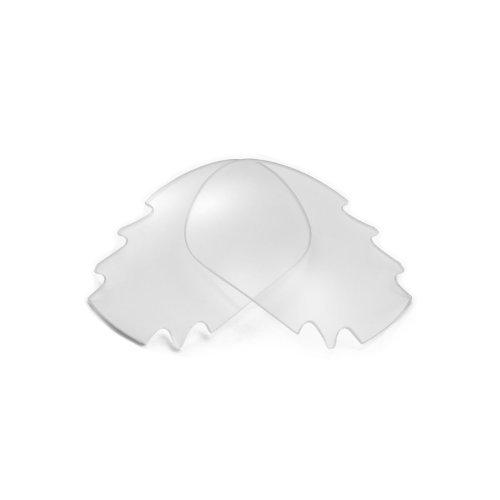 Walleva Ersatz belüftete Linsen für Oakley Jawbone Sonnenbrille - Mehrfache Optionen (Klar)