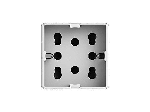 4Box 4B.G20.H21 Presa Multistandard 1 Schuko o 2 Bipasso Compatibile con Gewiss System, 250 V, Bianco