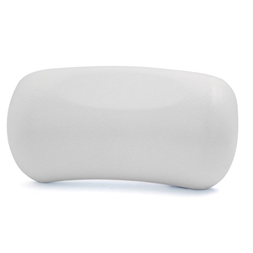 sourcingmap® Oreiller de bain de spa appuie-tête pour le dos du cou avec 2 ventouses