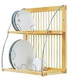 Fonz Mania - Supporto da parete per stoviglie, in legno e metallo, 51,5 x 46 x 26 cm, sostiene fino a 28 piatti