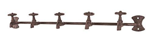 8er Garderobenleisten Set in Wasserhahnoptik aus Stahl in antikbraun; Maße (BTH) in cm: 59 x 9 x 7