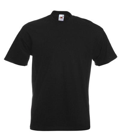 Fruit of the Loom Mens Plain Heavy Cotton T-Shirt Black XL
