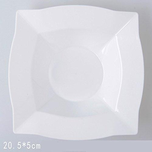 AINIF Farbe Square obstsalat teigfladen Teller Salat servieren, Plate 6 verfügbares westliches Essen einpacken,weiße