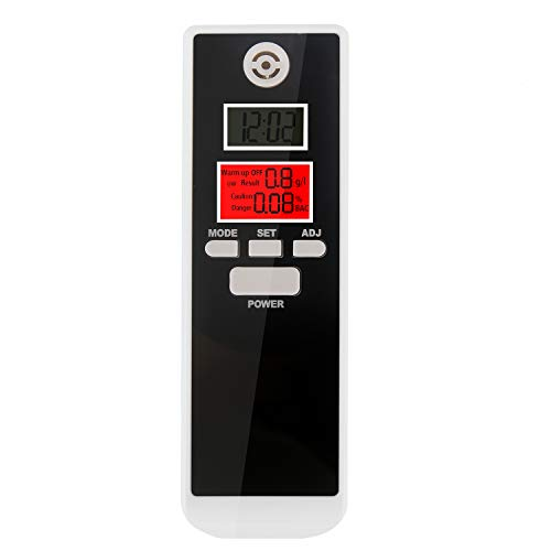 bedee Alkoholtester Digital Alkohol Tester mit LCD Display Alkoholtest Test Analyzer Detector Anzeige Promilletester mit Deutsches Handbuch